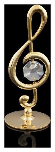 Сувенир «Скрипичный ключ», 3,2×3,2×8 см, с кристаллом сваровски  Swarovski Elements