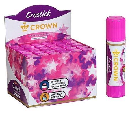 Клeй-карандаш Magic 8 г, Crown с цветным индикатором  Crown
