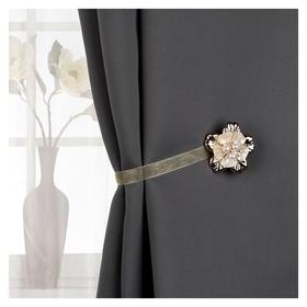 Подхват для штор «Цветок перламутровый», D = 5,5 см, цвет золотой  Арт узор