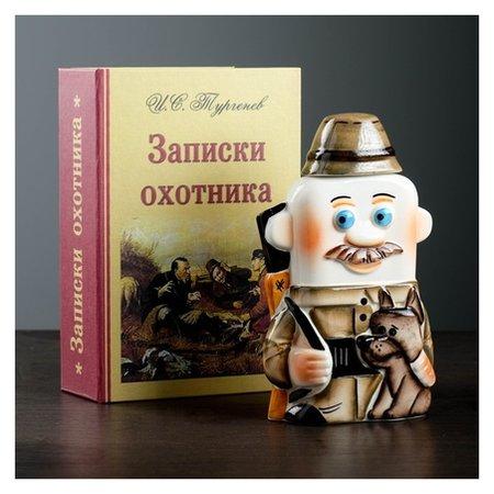Штоф фарфоровый «Охотник», 0.35 л, в упаковке книге  Весёлый фарфор (Чайник)