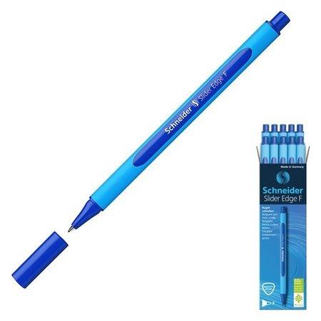 Ручка шариковая Schneider Slaider Edge F, узел 0.7мм, антискользящий корпус Soft, масляная основа чернил, синяя Schneider