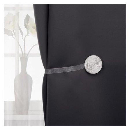 Подхват для штор «Круг», D = 5,5 см, цвет белый  Арт узор