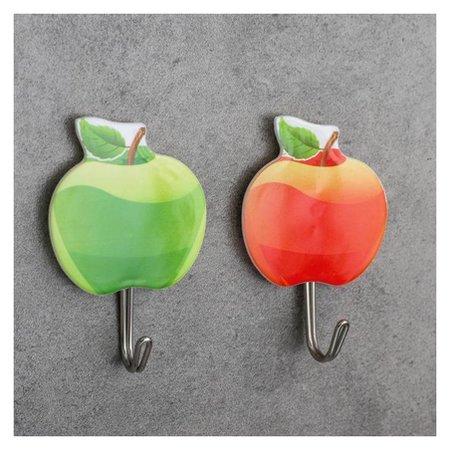 Набор крючков на липучке «Яблоки», 2 шт NNB