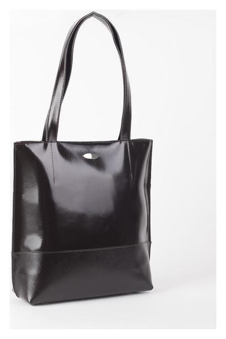 Сумка женская на молнии, 1 отдел, наружный карман, цвет коричневый гладкий шик/сафьян шик  Sоuffle
