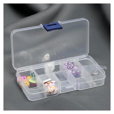 Контейнер для бисера, со съёмными ячейками, 10 отделений, 13 × 6,6 × 2,2 см NNB