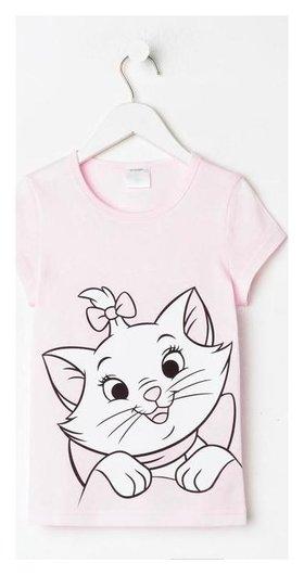 """Футболка детская Disney """"Мари"""", рост 98-104 (30), розовый  Disney"""