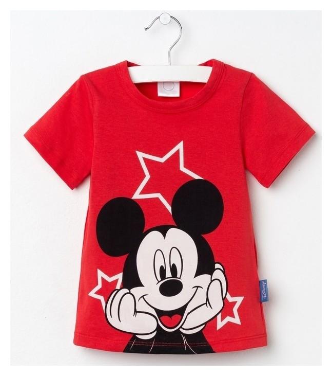 """Футболка детская Disney """"Микки маус"""", рост 98-104 (30), красный  Disney"""
