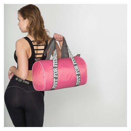 Сумка спортивная, отдел на молнии, длинный ремень, цвет розовый  NNB