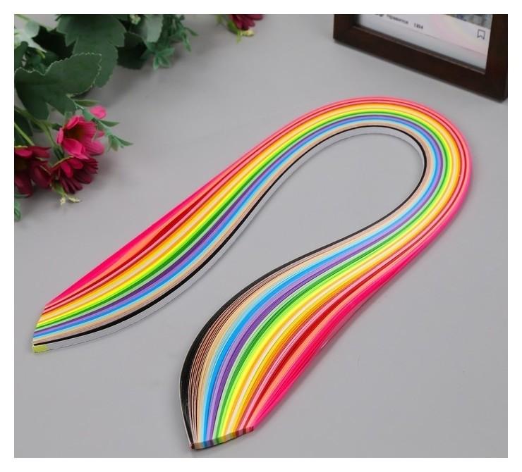 Полоски для квиллинга Цветные (Н-р 240 полос) ширина 0,5 см длина 54 см 26х11х0,5 см NNB