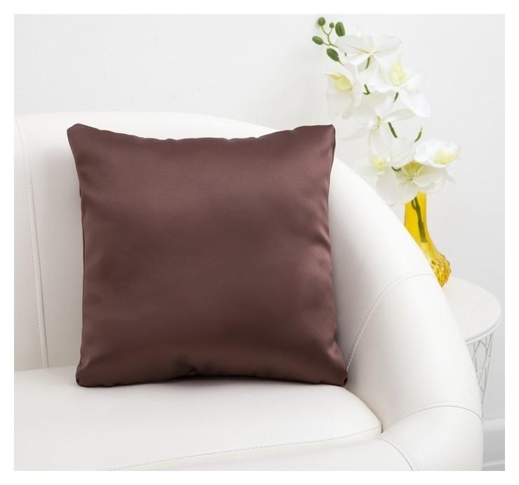 Подушка декоративная «Этель» Classic цвет шоколад, 40×40 см, пл. 240 г/м², 100% п/э Этель