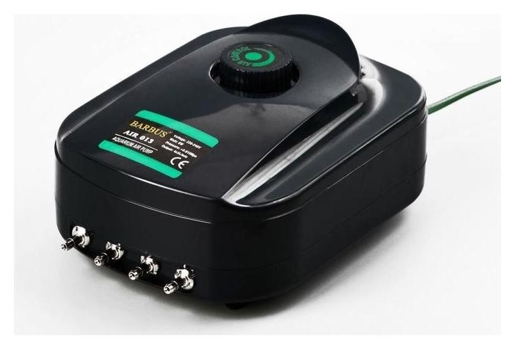 Воздушный компрессор многоканальный 4х3,5л/м 8ватт  Barbus