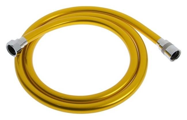 Душевой шланг Luazonaqua La10py, 150 см, антиперекручивание, латунные гайки, желтый Luazon aqua