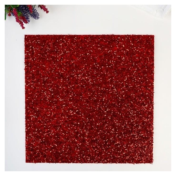 Кардсток с глиттером-мишуройi American Crafts - цвет Crimson American crafts