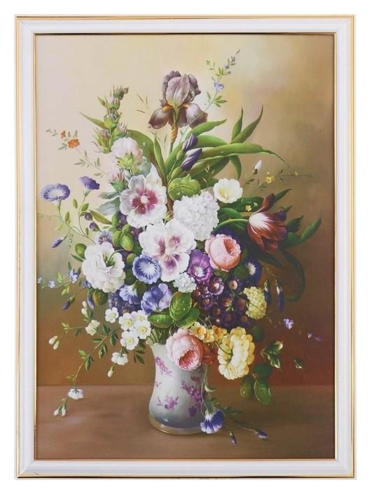 Картина Букет садовых цветов 28х38 см NNB