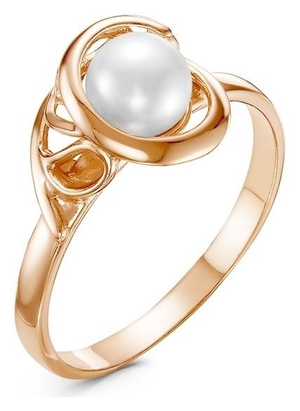 """Кольцо """"Жемчуг"""" меланхолия, позолота, цвет белый, 16,5 размер  Красная пресня"""