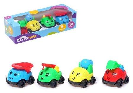 Машинки детские, набор 4 шт.  Автоград