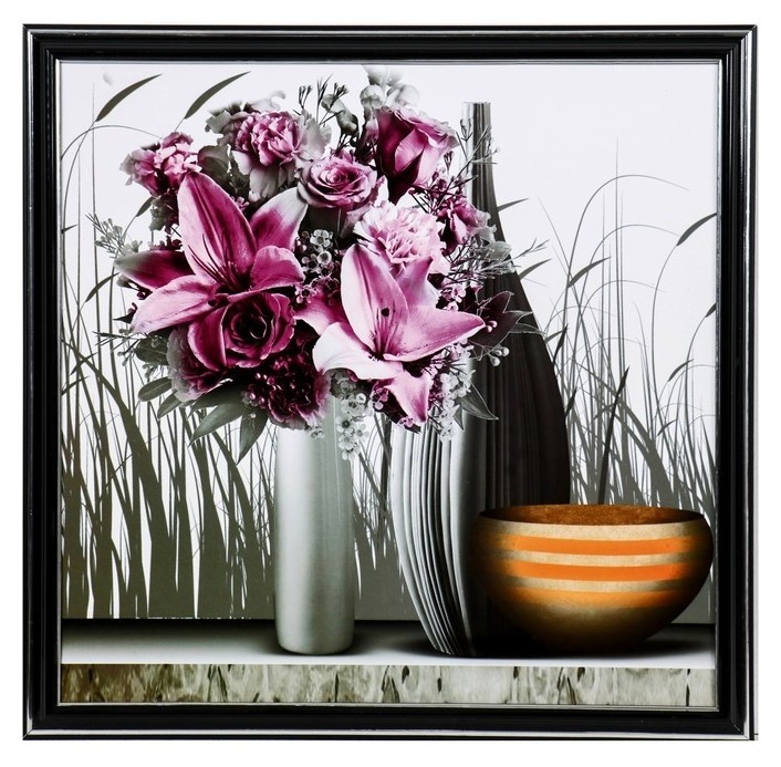 "Картина ""Вазы с лилиями"" 36х36 см  NNB"