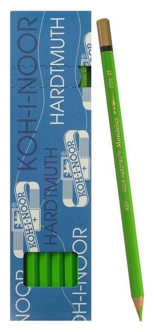 Карандаш акварельный Koh-i-noor Mondeluz 3720/022, L=175 мм, грифель= 3,8 мм, зеленый желтоват  Koh-i-noor