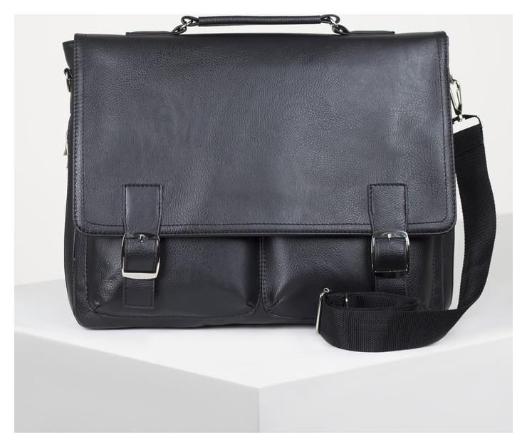 Сумка мужская, отдел на молнии, 4 наружных кармана, регулируемый ремень, цвет чёрный Miss Bag