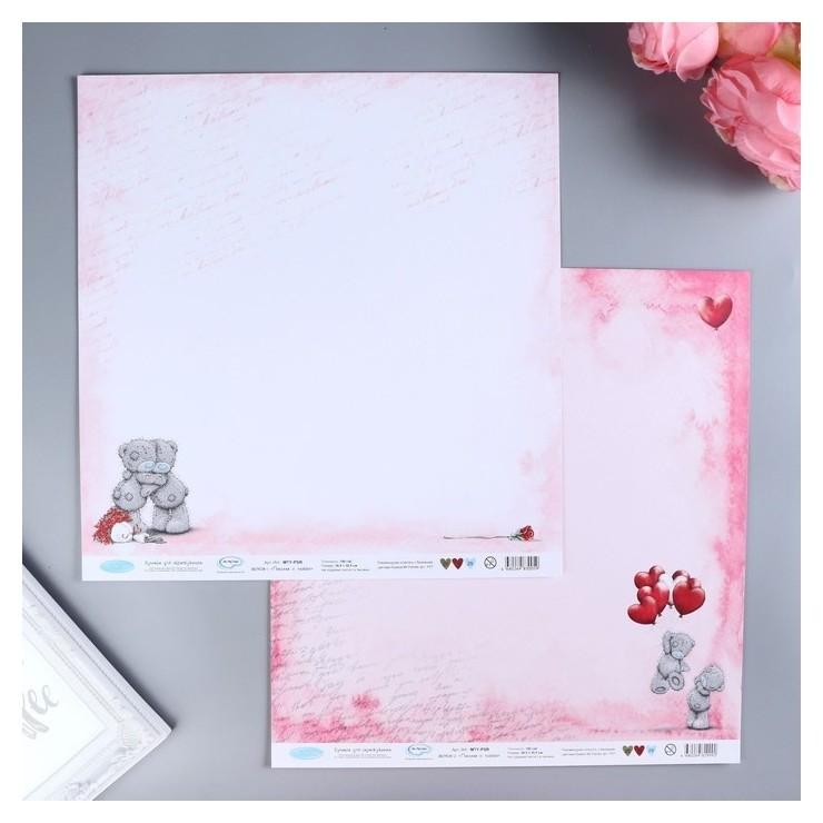 """Набор бумаги для скрапбукинга """"Письма о любви"""" 190 г/кв.м 30.5 X 30.5 см 7 шт  Mr.painter"""