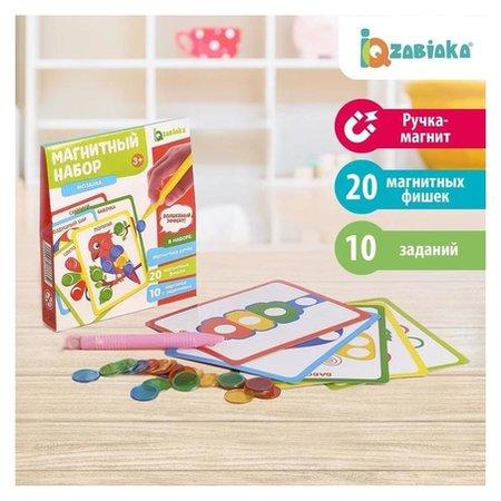 Магнитный набор «Мозаика», цвета, формы, магнитная ручка, фишки, задания