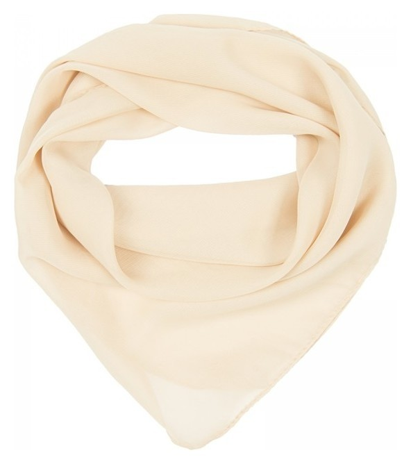 Платок текстильный женский, цвет бежевый, размер 70х70  Rossini