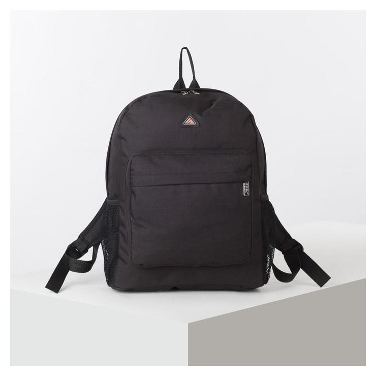 Рюкзак школьный, отдел на молнии, наружный карман, 2 боковые сетки, цвет чёрный TL