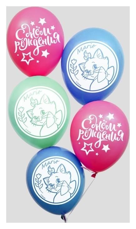 Воздушные шары «С днем рождения», коты-аристократы, 50 шт., 12 Disney