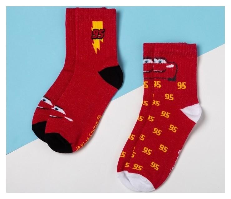 """Набор носков """"Тачки"""" 2 пары, красный, 16-18 см  Disney"""