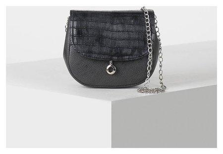 Сумка женская, отдел на клапане, длинная цепь, цвет тёмно-серый  Miss Bag
