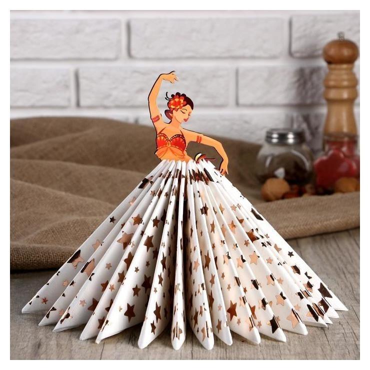 Салфетница Девушка танцовщица жаркая, цветная наклейка NNB