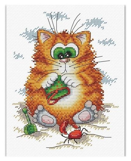 """Набор для вышивания """"Кот на пляже""""  М.П. Студия"""