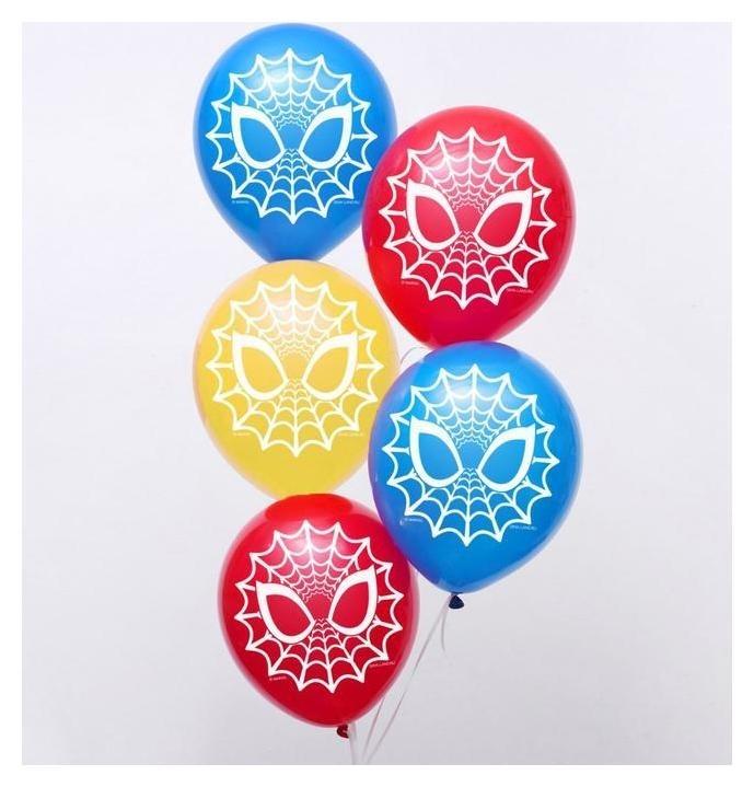 """Воздушные шары """"Spider-man"""", человек-паук, 12 дюйм (Набор 5 шт)  Marvel"""