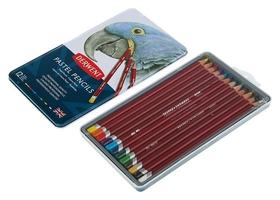 Пастель сухая художественная в карандаше, набор Derwent Pastel Hard 12 цветов, в металлической упаковке  Derwent