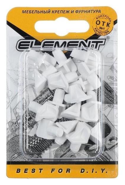 Полкодержатель лопаточка. D=6 мм, пластмассовый, белый, 16 шт.  Стройбат