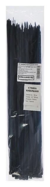 Нейлоновый хомут 4,8х400 черный, 100 шт. NNB