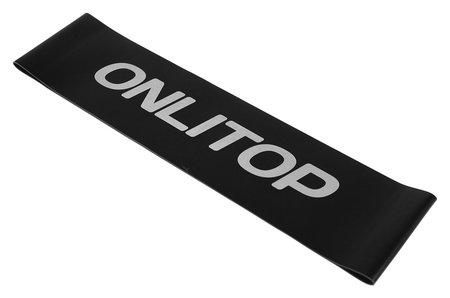 Фитнес-резинка 30,5 х 7,6 х 1,1 см, нагрузка до 10 кг, цвет чёрный  Onlitop