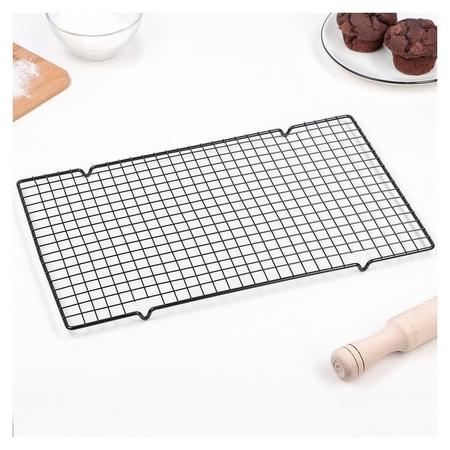 Решётка для глазирования и остывания кондитерских изделий, 40×25×1,5 см  Konfinetta
