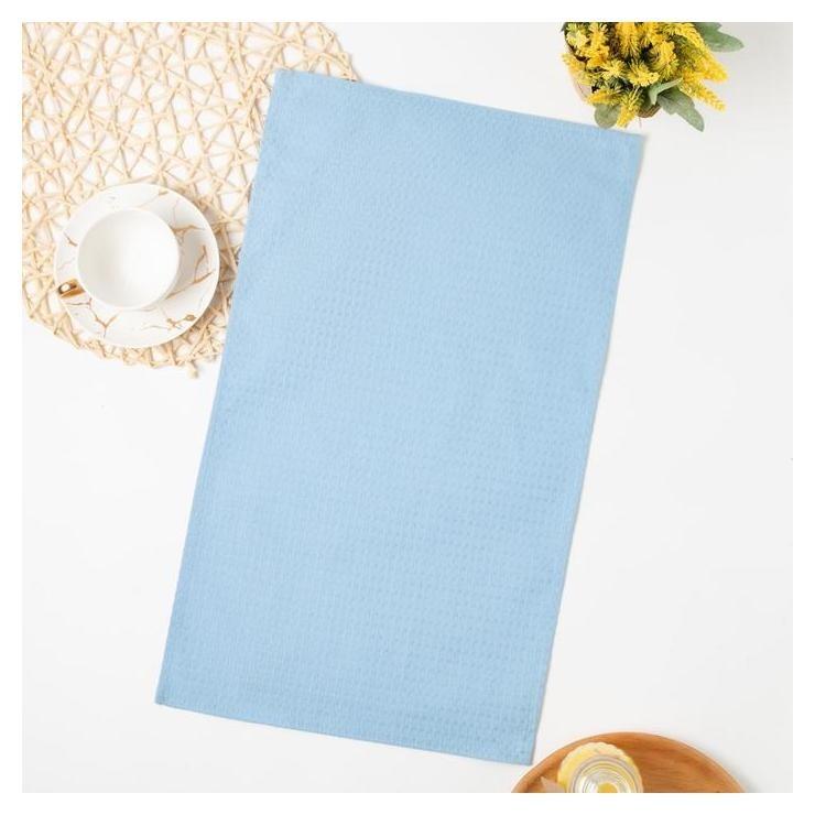 Полотенце вафельное 35х60 см, голубой, хлопок 100%, 185г/м2  Коллекция