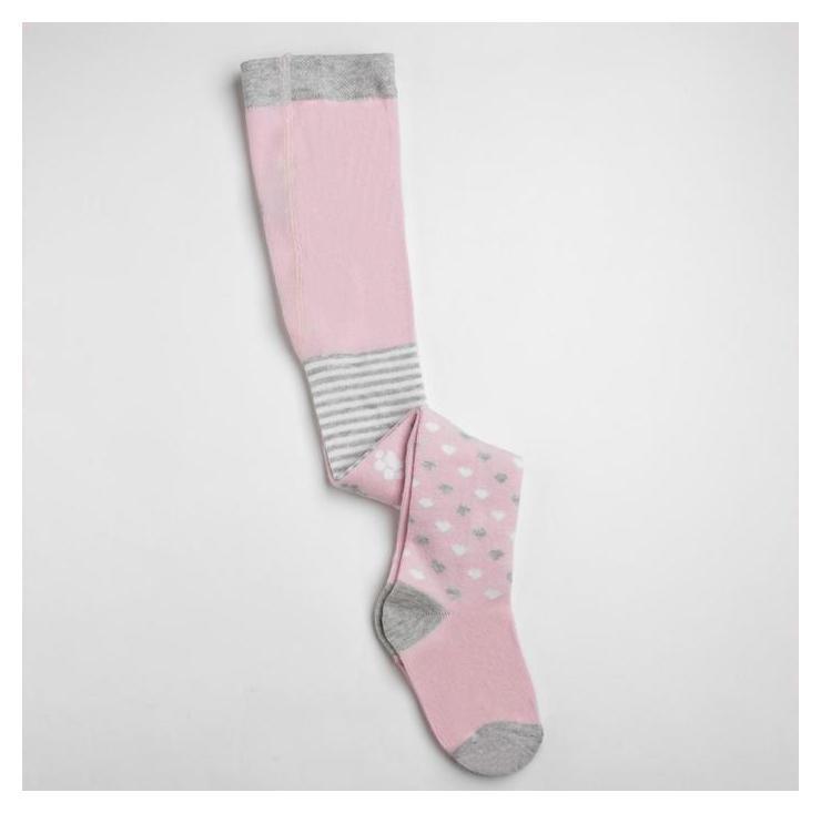 Колготки детские, цвет розовый, размер 12-13, рост 80-86 Donella
