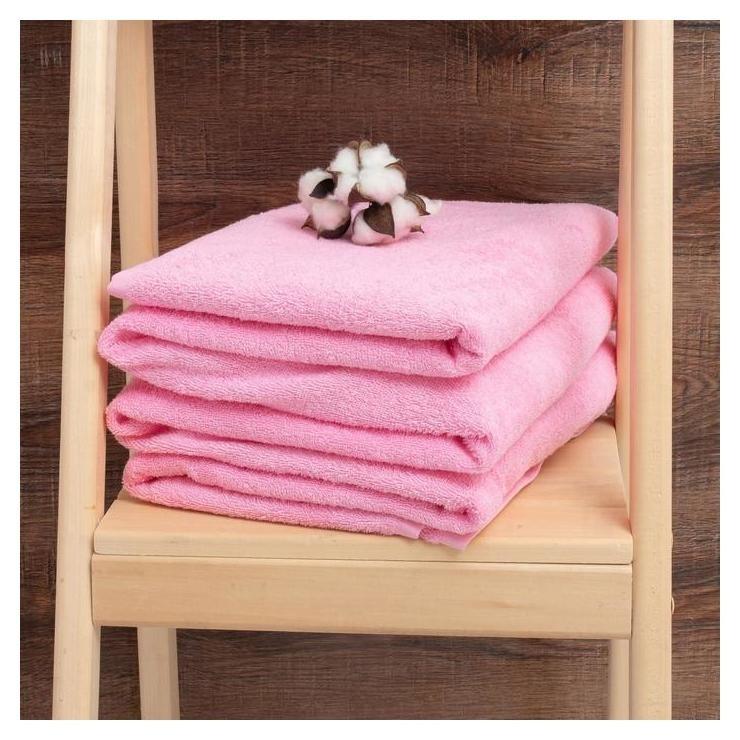 Простыня махровая гладкокрашеная 190х200 см, цвет розовый Алтын Асыр