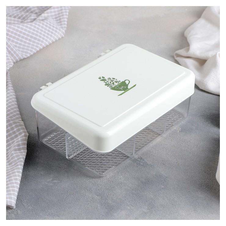 Органайзер для чайных пакетиков с крышкой, 22×15×8 см, 6 ячеек  Qlux