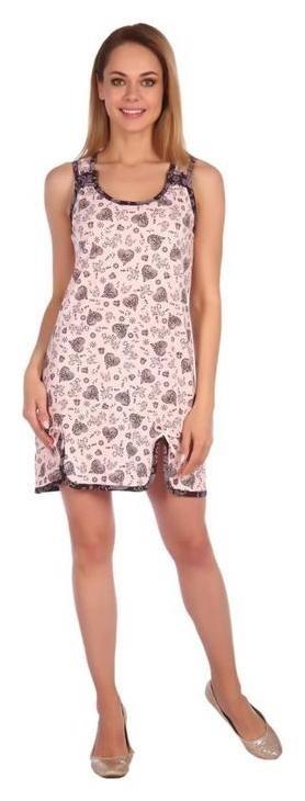 Сорочка женская «Елена», цвет розовый, размер 44 Ирис