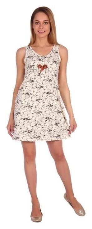 Сорочка женская «Татьяна», цвет молочный, размер 56  Ирис