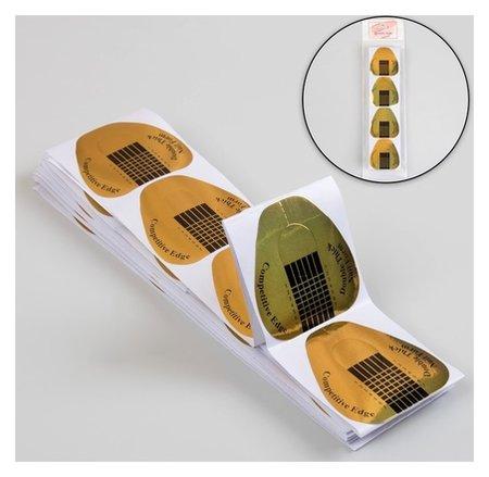 Формы для ногтей широкие, 100 шт, цвет золотистый  Queen Fair