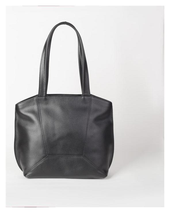 Сумка женская, отдел на молнии, наружный карман, цвет чёрный  Sоuffle