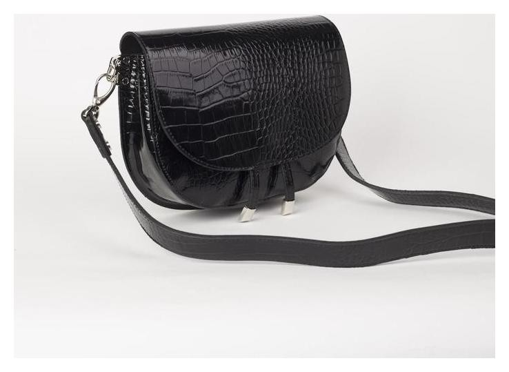 Сумка женская, отдел на клапане, наружный карман, цвет чёрный Suffle