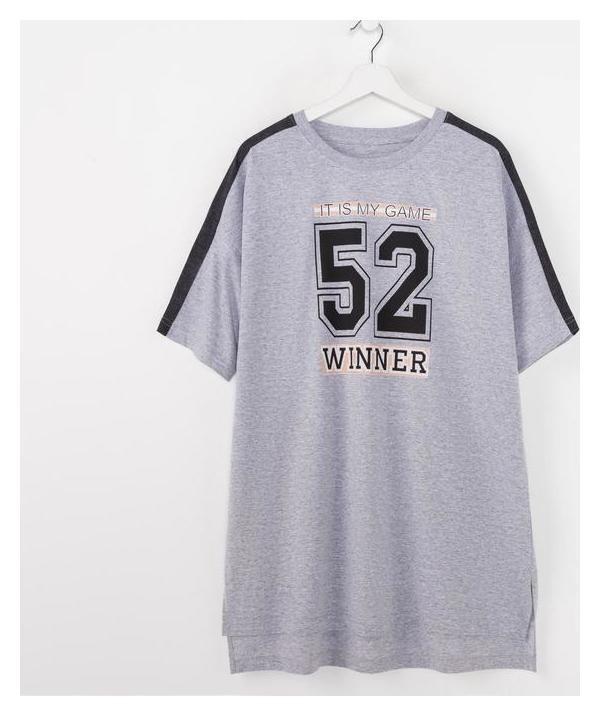 Футболка женская, цвет меланж/чёрный, размер 50 Jewel style
