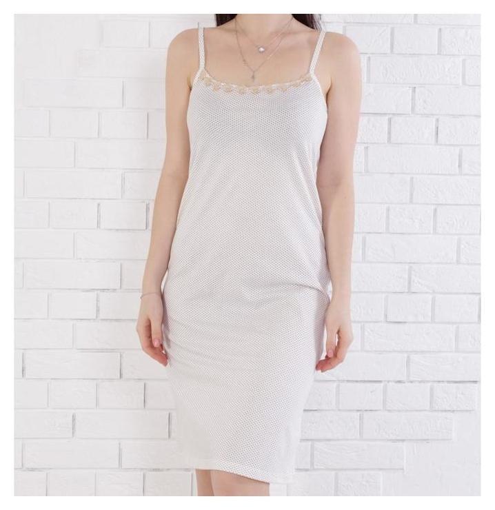 Сорочка женская, цвет молочный/серый размер 50  Jewel style