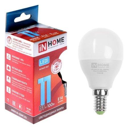 Лампа светодиодная IN Home Led-шар-vc, е14, 11 Вт, 230 В, 4000 К, 820 Лм  INhome
